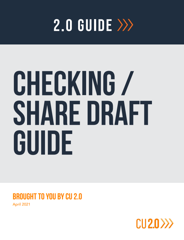 checking share draft guide for credit unions